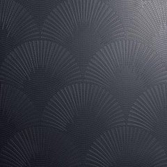 "Decoro ""pavone"" on matt black background 60.00 60.00"